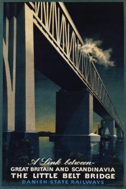 The Little Belt Bridge Poster by Aage Rasmussen