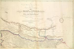 Map of India, 1822 by Aaron Arrowsmith