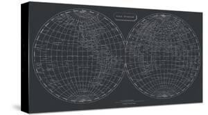 Map of the World, 1812 (chalkboard) by Aaron Arrowsmith