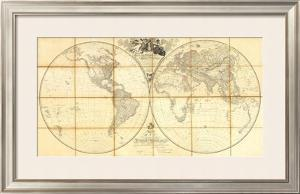 Map of the World, Researches of Capt. James Cook, c.1808 by Aaron Arrowsmith