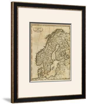 Sweden, Norway, c.1812 by Aaron Arrowsmith