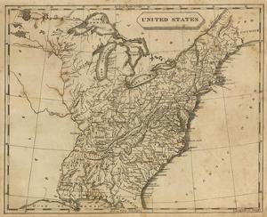 United States, c.1812 by Aaron Arrowsmith