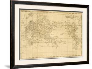 World Mercator's Projection, c.1812 by Aaron Arrowsmith