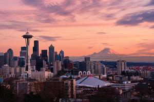Seattle in Pink by Aaron Eakin