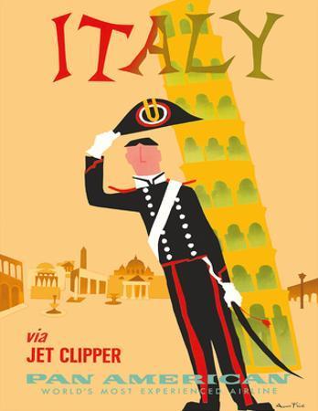 Italy via Jet Clipper - Pan American World Airways