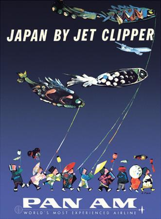 Japan by Jet Clipper - Pan American World Airways - Children's Day - Koinobori by Aaron Fine