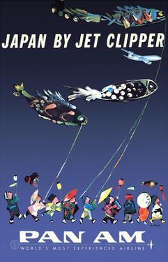 Japan by Jet Clipper - Pan American World Airways - Children's Day - Koinobori by Aaron Fine
