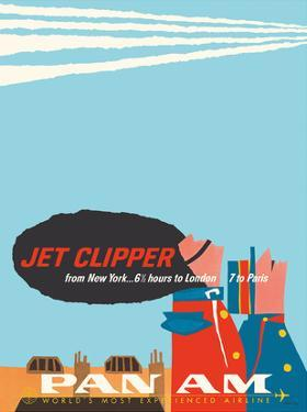 New York - 6.5 Hours to London - 7 to Paris - Jet Clipper Pan American World Airways by Aaron Fine