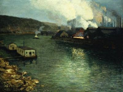 Evening, Factories on the River, 1923