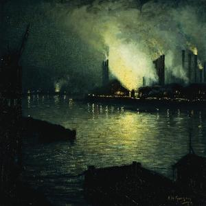 Steel Mills at Night, 1926 by Aaron Henry Gorson