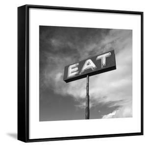"Vintage ""Eat"" Restaurant Sign by Aaron Horowitz"