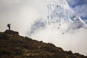 A sherpa below the summit of Ama Dablam. by Aaron Huey