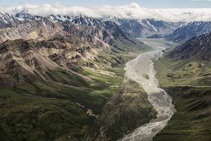 Aerial View of a Flowing River in Denali National Park and Preserve by Aaron Huey