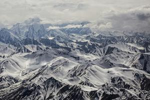 Brooks Glacier, Muldrow Glacier, and Wickersham Wall in Denali National Park by Aaron Huey
