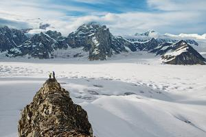 Climbers Take in the Vista of the Upper Ruth Glacier in Denali National Park and Preserve by Aaron Huey