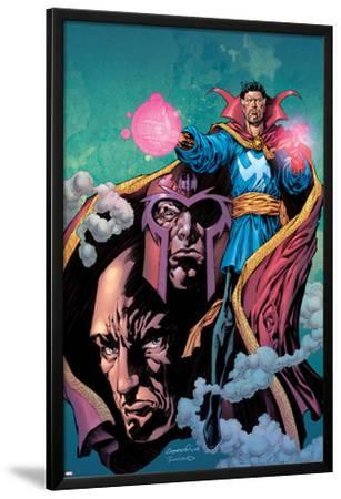 Excalibur No.13 Cover: Dr. Strange, Magneto and Professor X