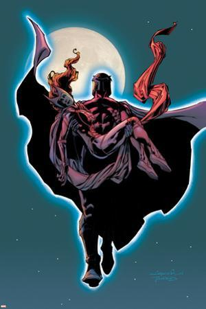 Excalibur No.14 Cover: Magneto and Scarlet Witch Flying