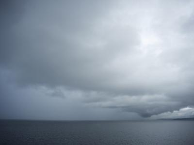 Storm Clouds Settle Over the Puget Sound, Washington State, United States of America, North America