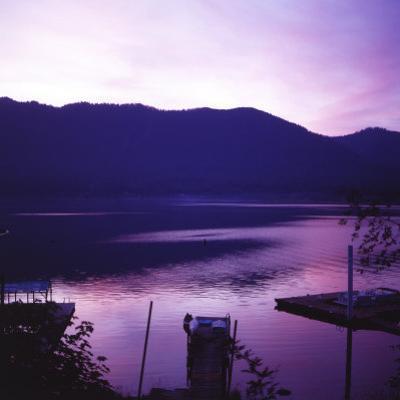 Sunset on Lake Quinault, Olympic National Park, Washington. United States of America