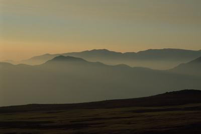 Sunset View from Farellones, Central Chile, South America