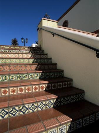 Tile Stairs in Shopping Center, Santa Barbara, California