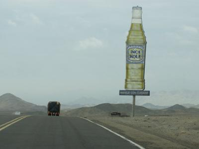 Transport Truck on the Pan American Highway in Northern Peru, South America