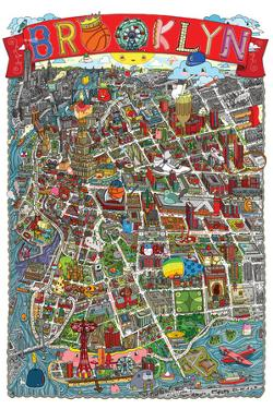 Brooklyn Map by Aaron Meshon