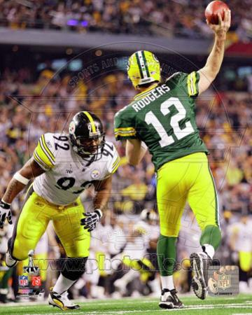 Aaron Rodgers Action from Super Bowl XLV (#21)