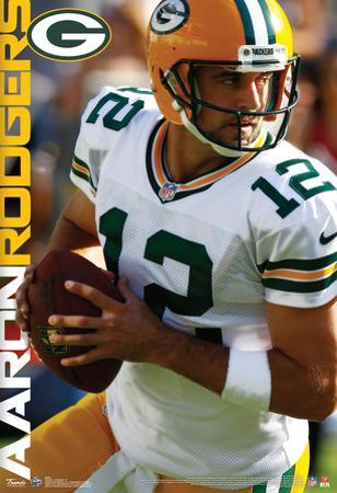 Aaron Rodgers Green Bay Packers Nfl Sports Poster