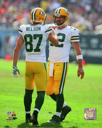 Aaron Rodgers & Jordy Nelson 2014 Action