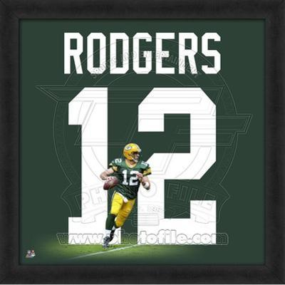 Aaron Rodgers, Packers (Home) photographic representation of the player's jersey