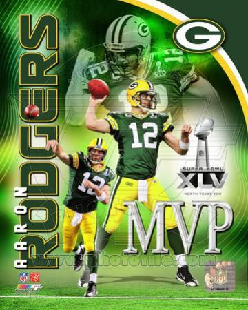 Aaron Rodgers Super Bowl XLV MVP Portrait Plus