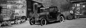 Abandoned Vintage Car at the Roadside, Route 66, Arizona, USA