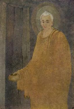 Buddha (Siddhartha) as a Mendicant Priest by Abanindro Nath Tagore