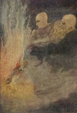 The Death of Siddhartha Gautama Known as the Buddha, The Final Release by Abanindro Nath Tagore