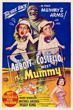 Abbott And Costello Meet the Mummy, Eddie Parker, Bud Abbott, Lou Costello, Marie Windsor, 1955