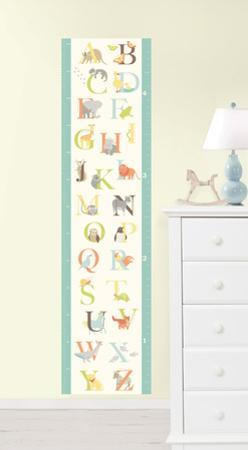 ABC Jungle Growth Chart Wall Decal Sticker