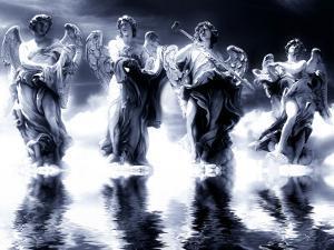 Digital Art, Based on the Angel Statues on Ponte Sant Angelo, Rome - Italy by Abdul Kadir Audah