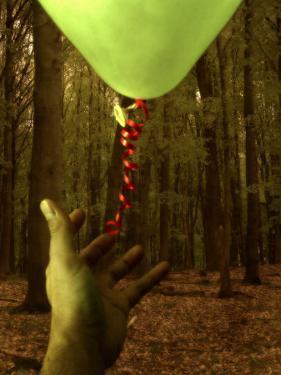 Hand Reaching for Balloon in Forest by Abdul Kadir Audah