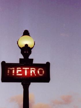 Metro Stop in Paris Against Sunset Sky by Abdul Kadir Audah