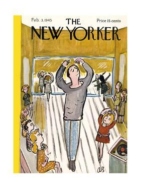 The New Yorker Cover - February 3, 1945 by Abe Birnbaum