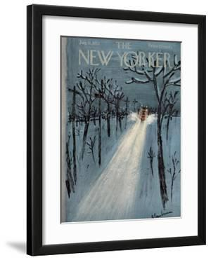 The New Yorker Cover - January 11, 1958 by Abe Birnbaum