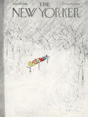The New Yorker Cover - January 22, 1955 by Abe Birnbaum