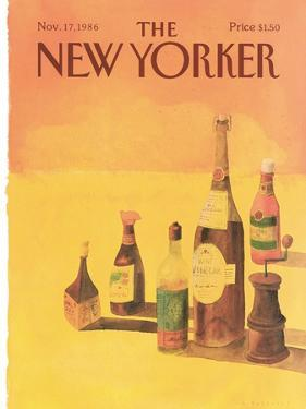 The New Yorker Cover - November 17, 1986 by Abel Quezada