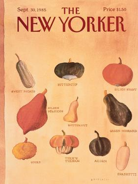 The New Yorker Cover - September 30, 1985 by Abel Quezada