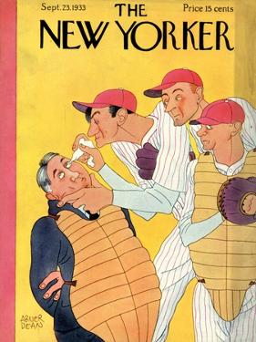 The New Yorker Cover - September 23, 1933 by Abner Dean