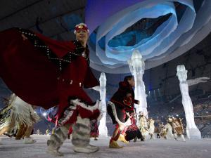 Aboriginal Dancers Perform During the Opening Ceremonies at the 2010 Vancouver Olympic Winter Games