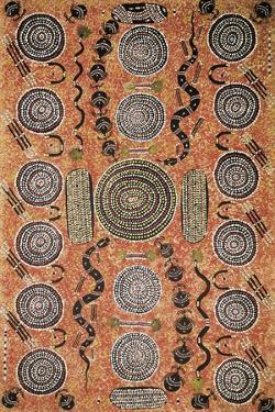 Aboriginal Painting, Art Gallery, Alice Springs, Australia