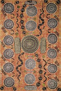 Aboriginal Painting, Art Gallery, Alice Springs, Australia