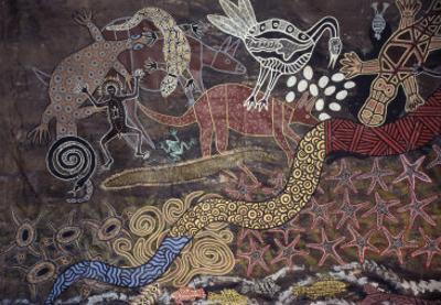 Aboriginal Wall Painting by the Tjapukai People